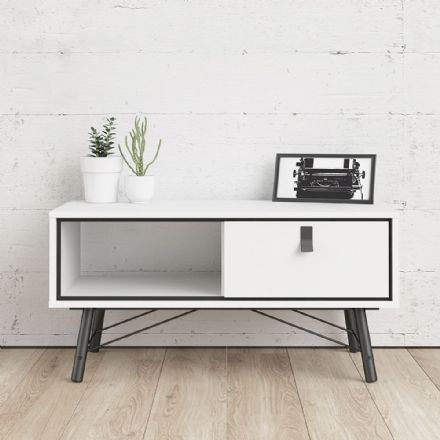 Coffee table with 1 drawer White
